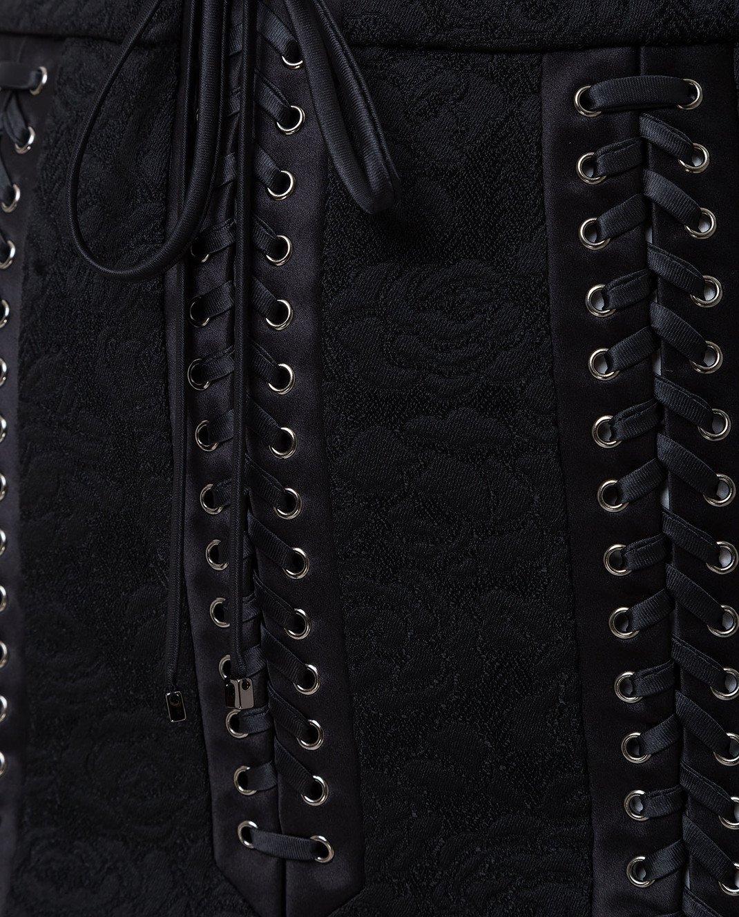 Dolce&Gabbana Черная юбка F4BIHTFJRCP изображение 5