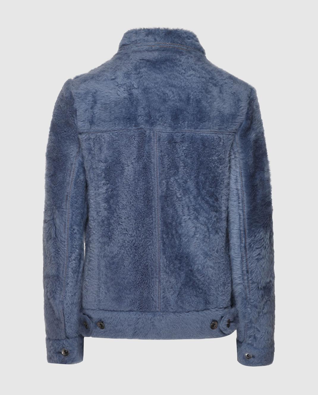 Brunello Cucinelli Синяя куртка MPMTE8527P изображение 2