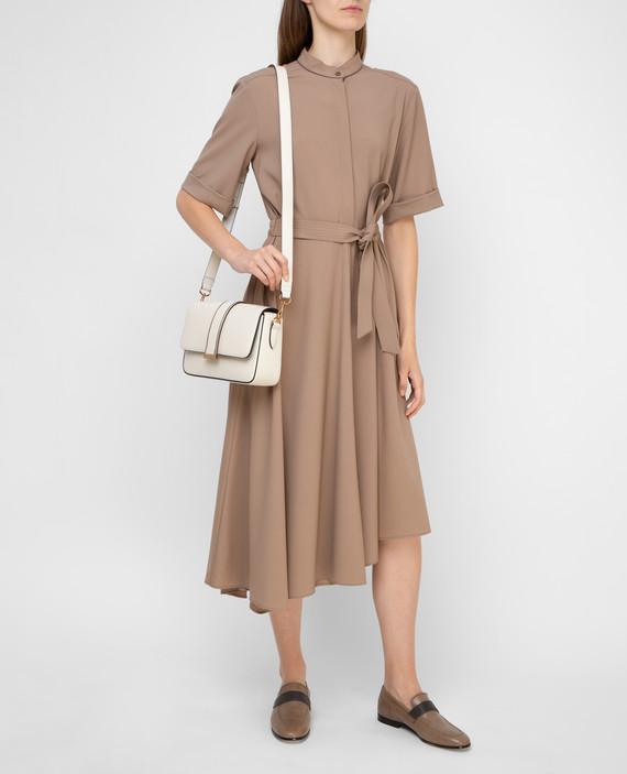 Бежевое платье из шерсти hover