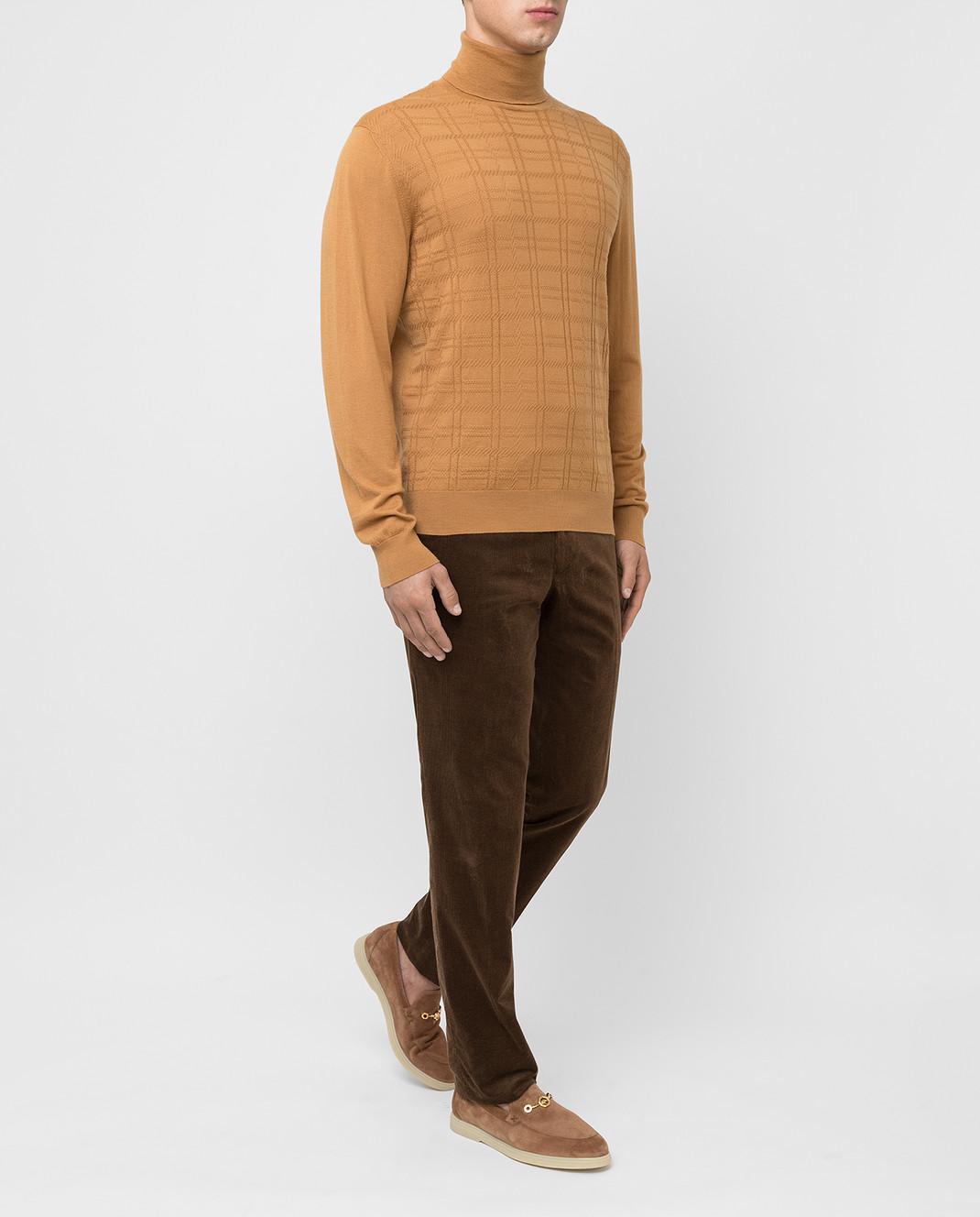 Stefano Ricci Коричневые брюки изображение 2