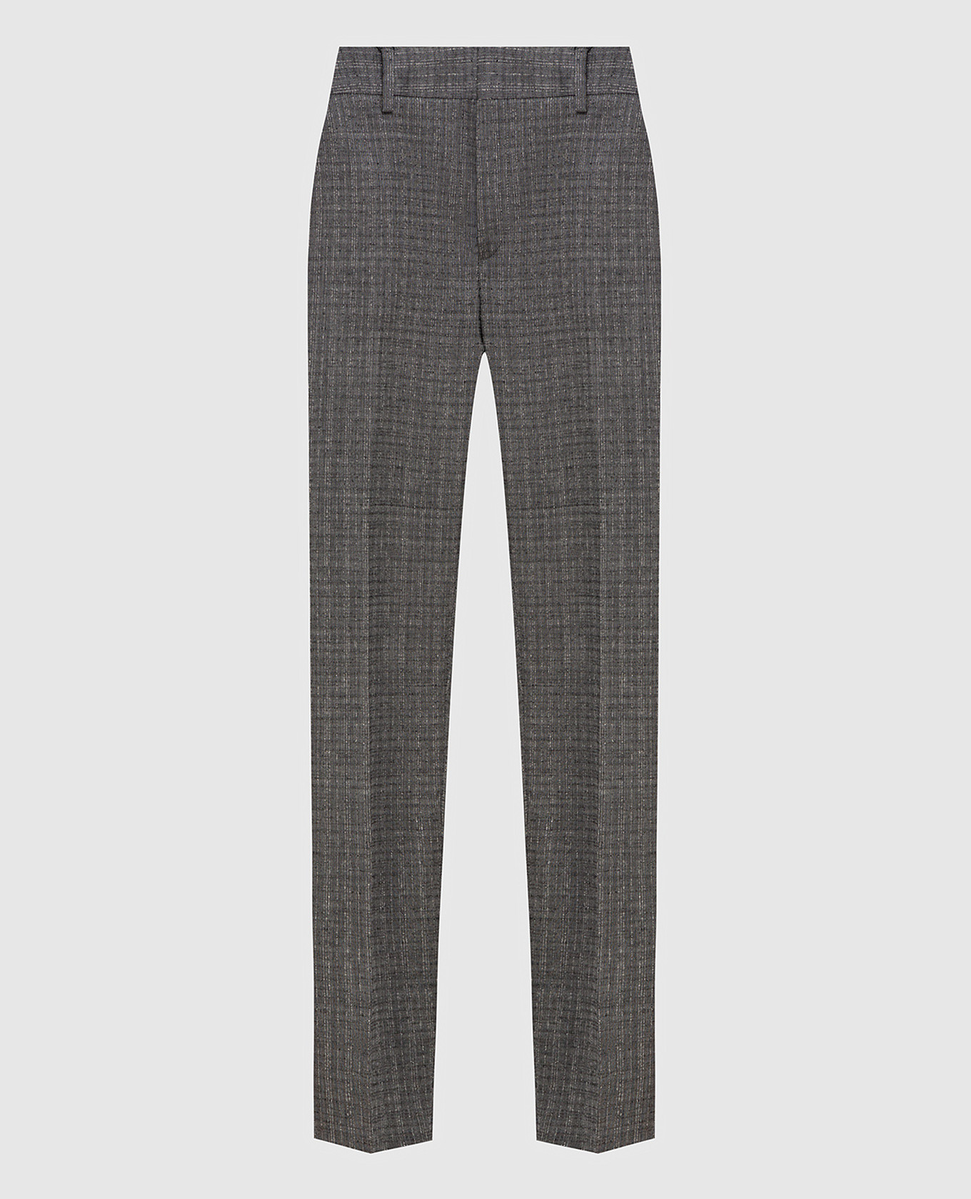Серые брюки из шерсти и мохера