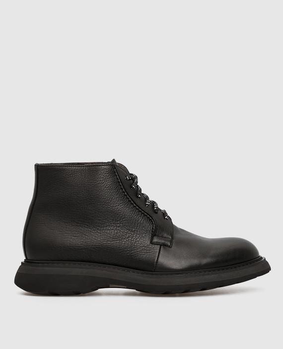 Черные кожаные ботинки