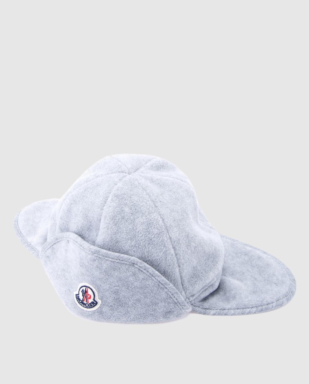 Moncler ENFANT Детская серая шапка 00623