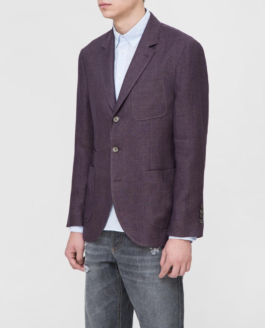 Brunello Cucinelli Сиреневый пиджак изображение 3