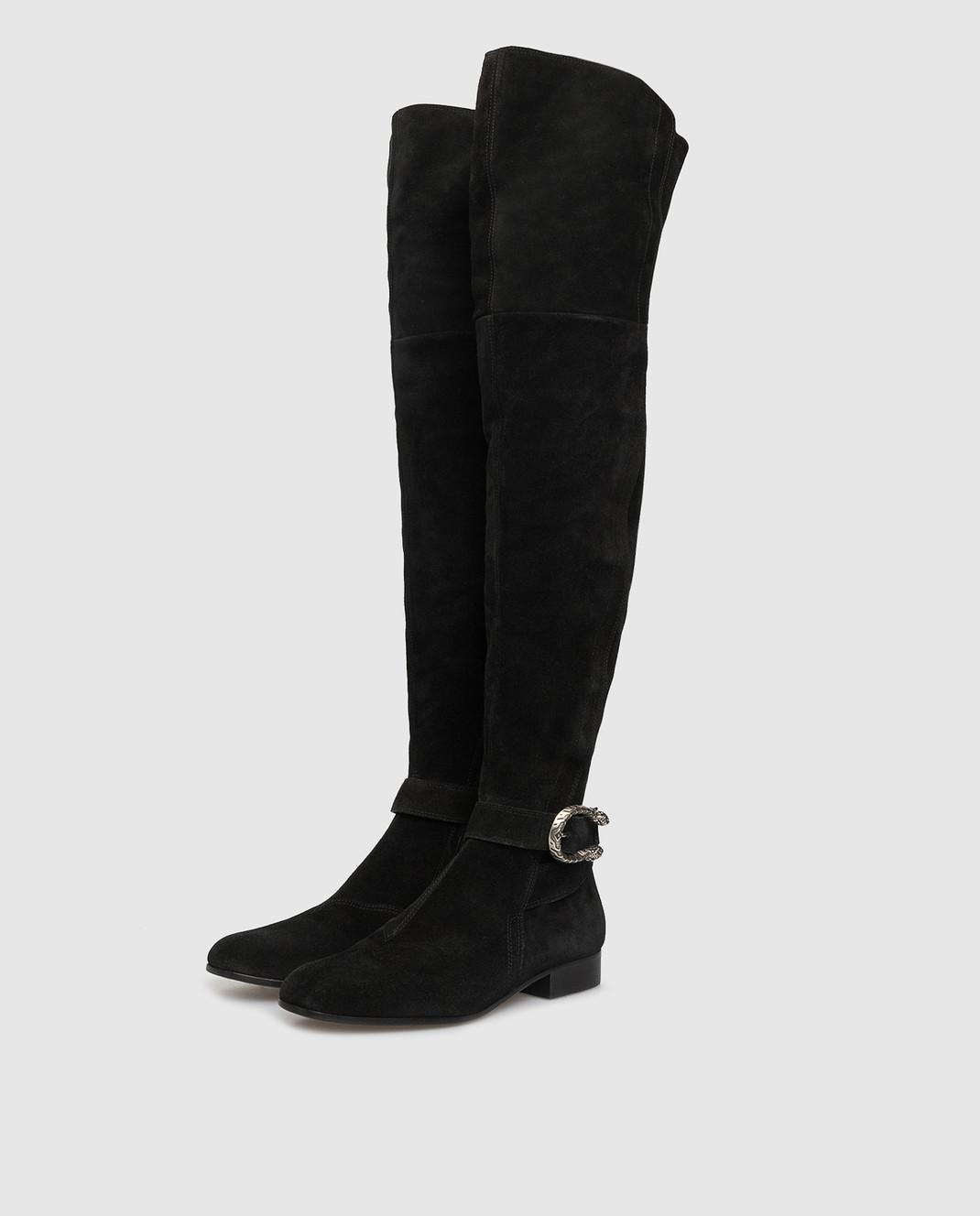 Gucci Черные замшевые ботфорты 432083CXZ10 изображение 3
