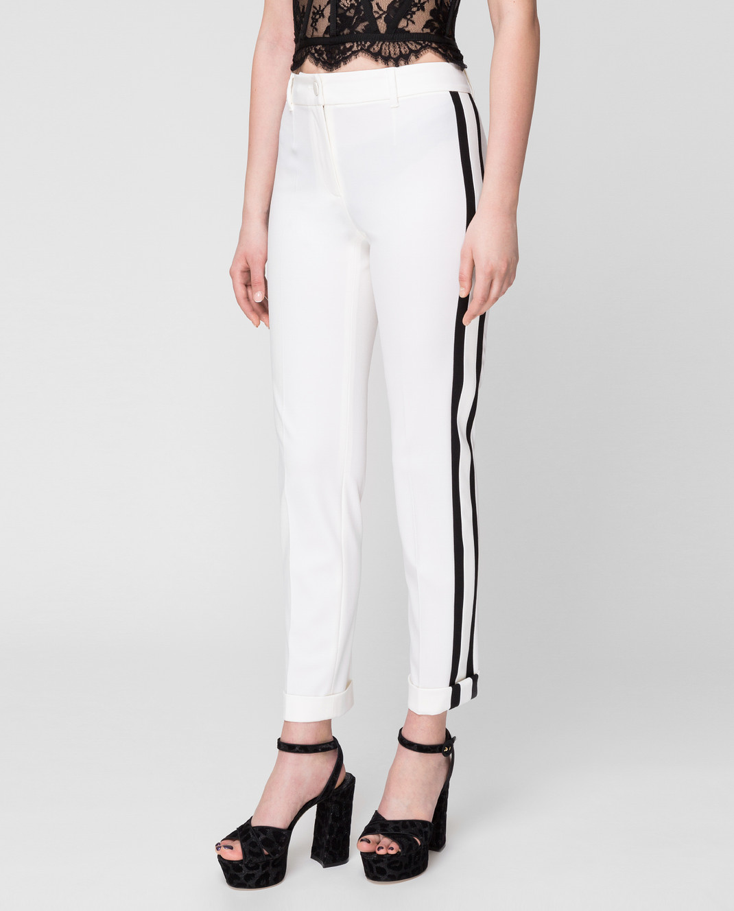 Dolce&Gabbana Белые брюки FTBDETFUCCS изображение 3