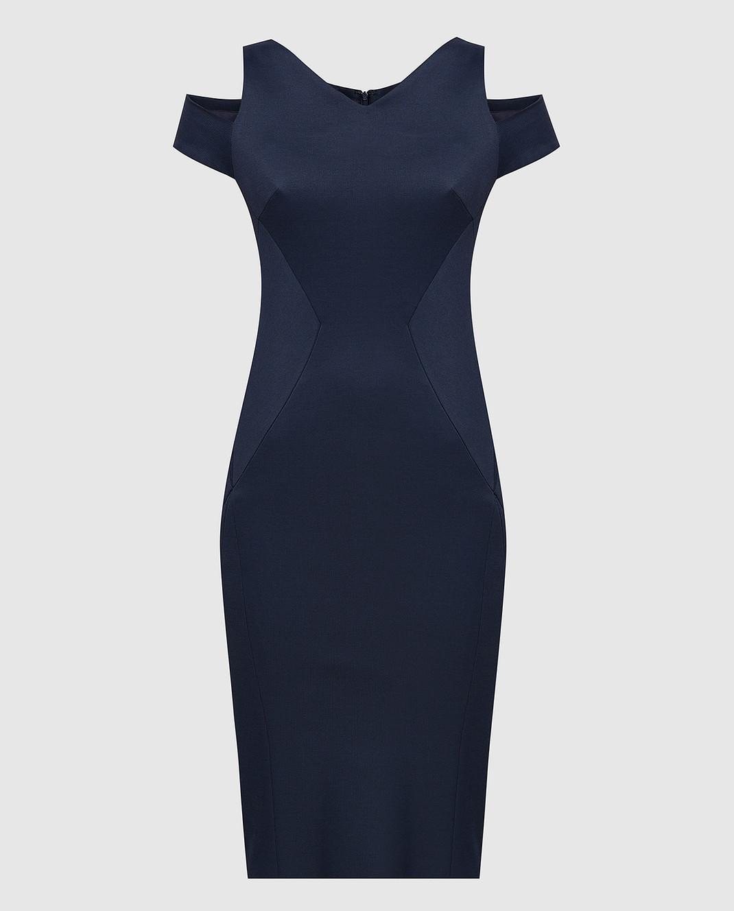 Zac Posen Темно-синее платье 40548253