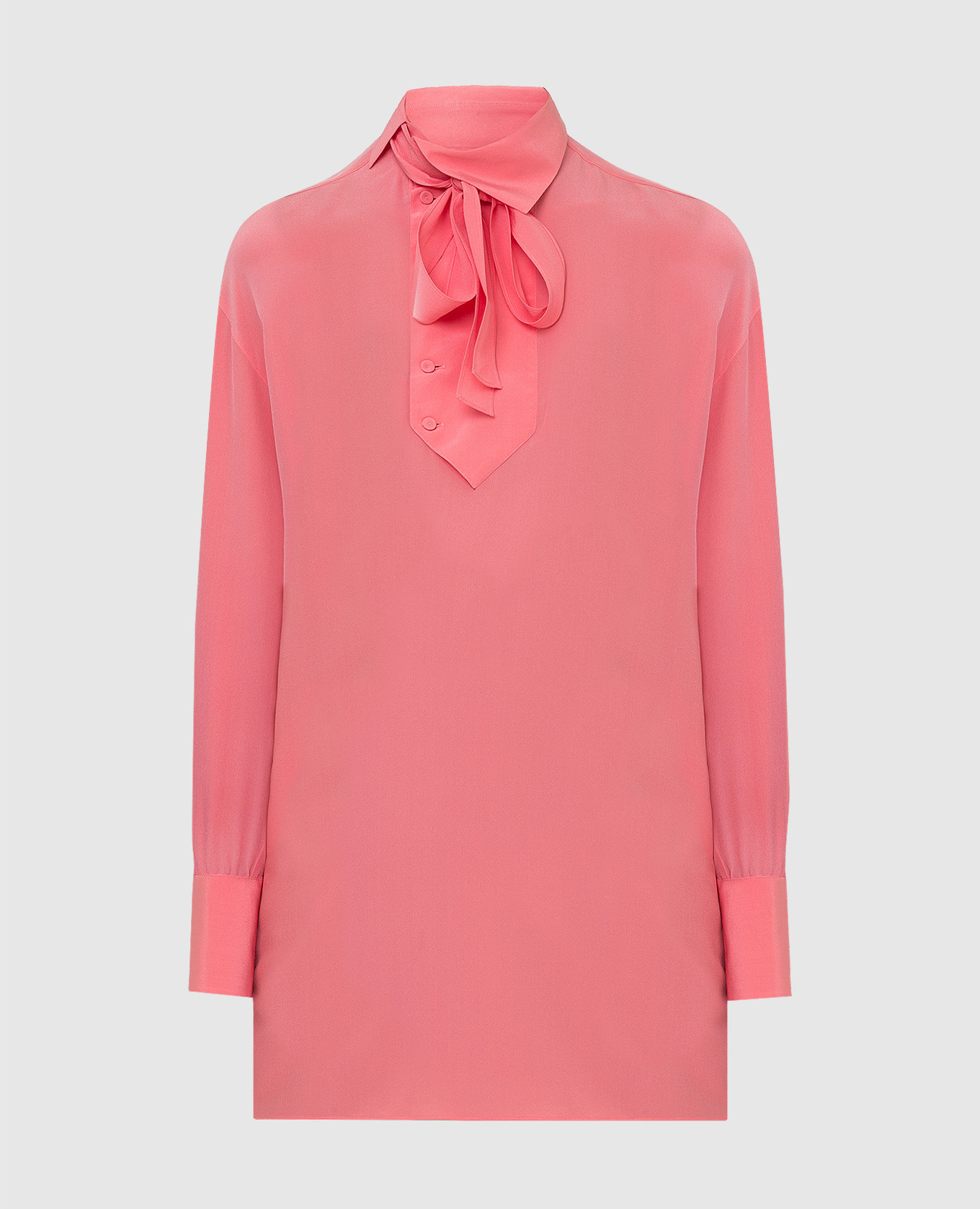 Коралловая блуза из шелка