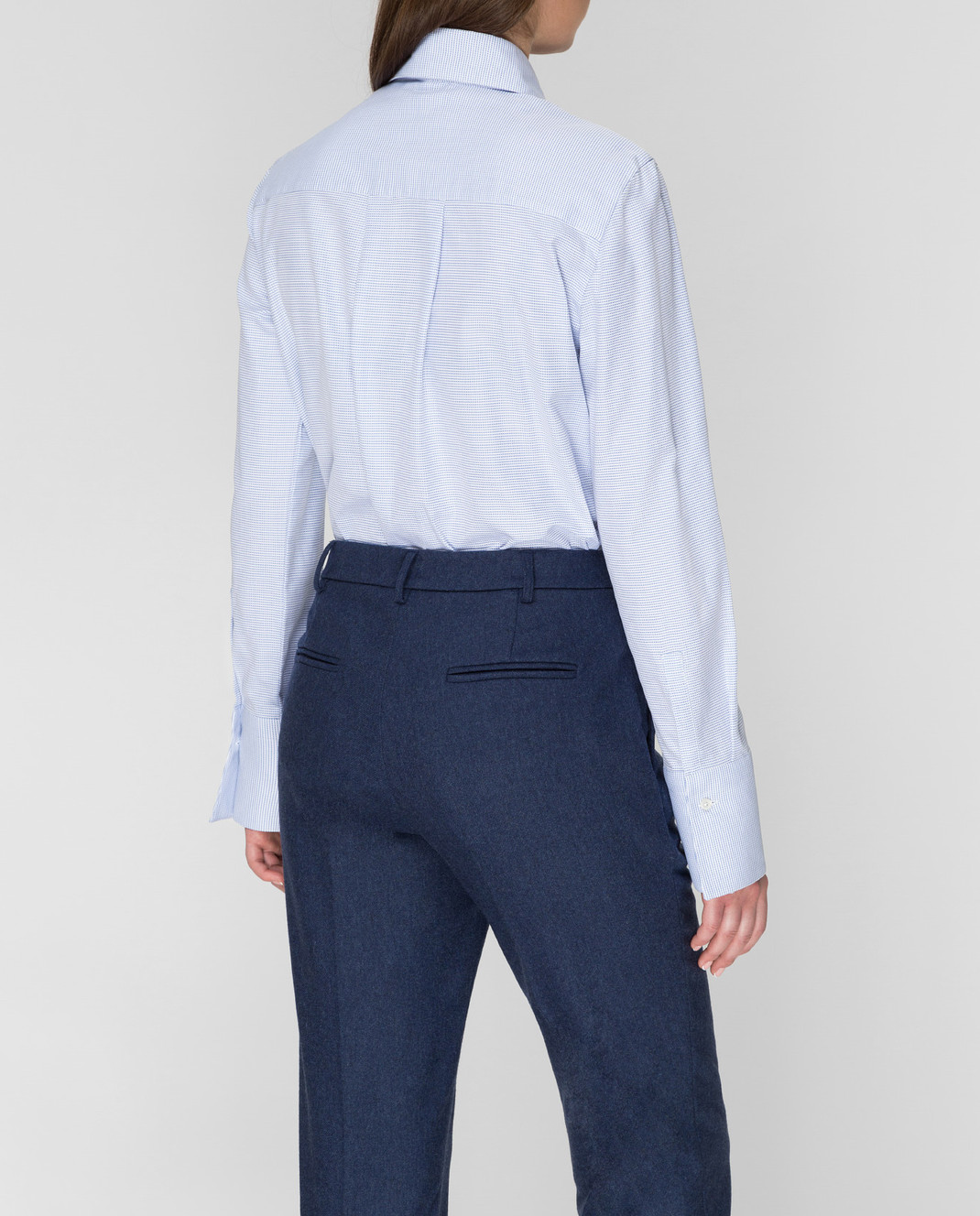 Stile Latino Голубая рубашка CMDDALIA2TCCM18 изображение 4