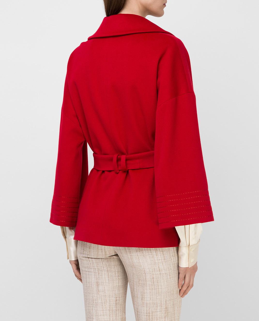 Heresis Красное пальто из шерсти K5270 изображение 4