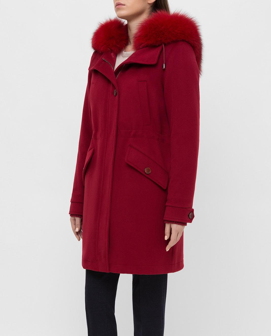 Heresis Красное пальто из шерсти P1290VO изображение 3