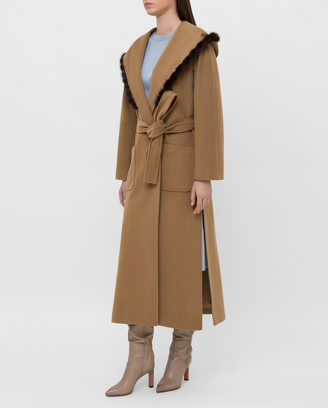 Heresis Бежевое пальто из шерсти M33130VIF260 изображение 3