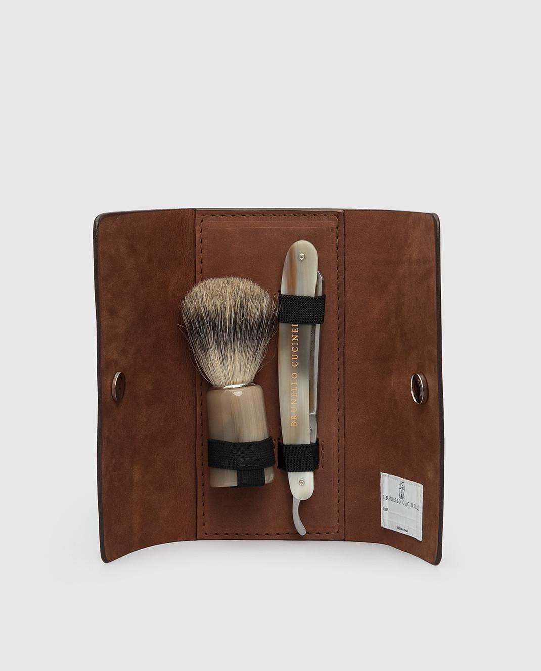 Brunello Cucinelli Мужской набор для бритья изображение 2