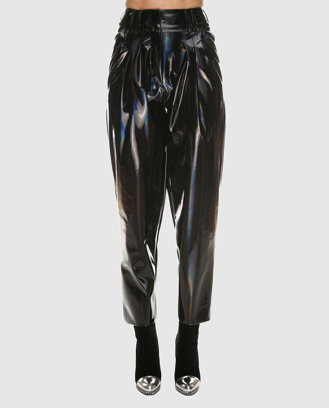 Balmain Черные лаковые брюки PF05334 изображение 3