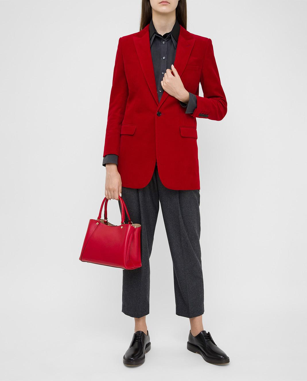 Gianni Notaro Красная кожаная сумка изображение 2