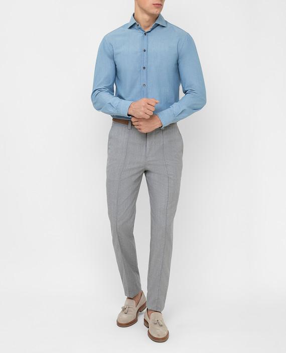 Серые брюки из шерсти hover