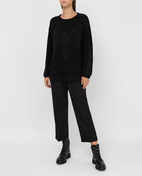 Черный свитер hover