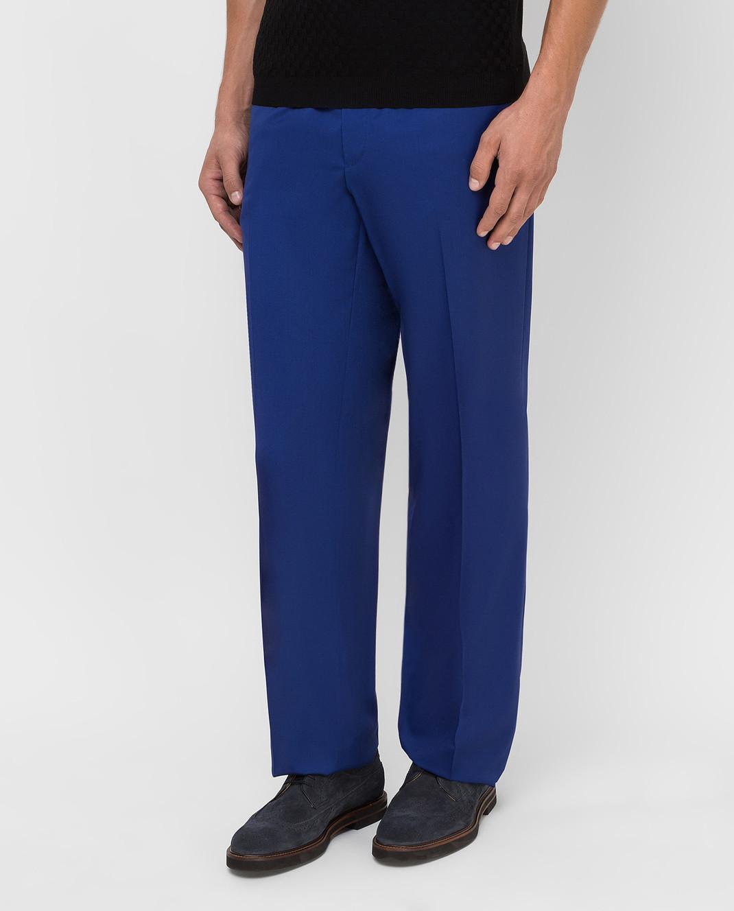 Castello d'Oro Синие брюки из шерсти изображение 3