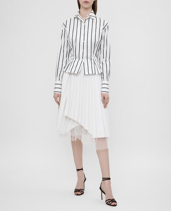 Белая юбка с плиссировкой hover