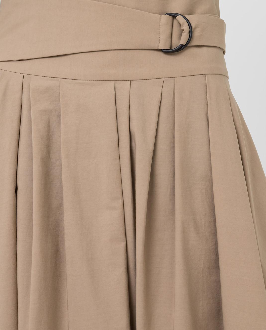 Brunello Cucinelli Бежевая юбка MH127G2906 изображение 5