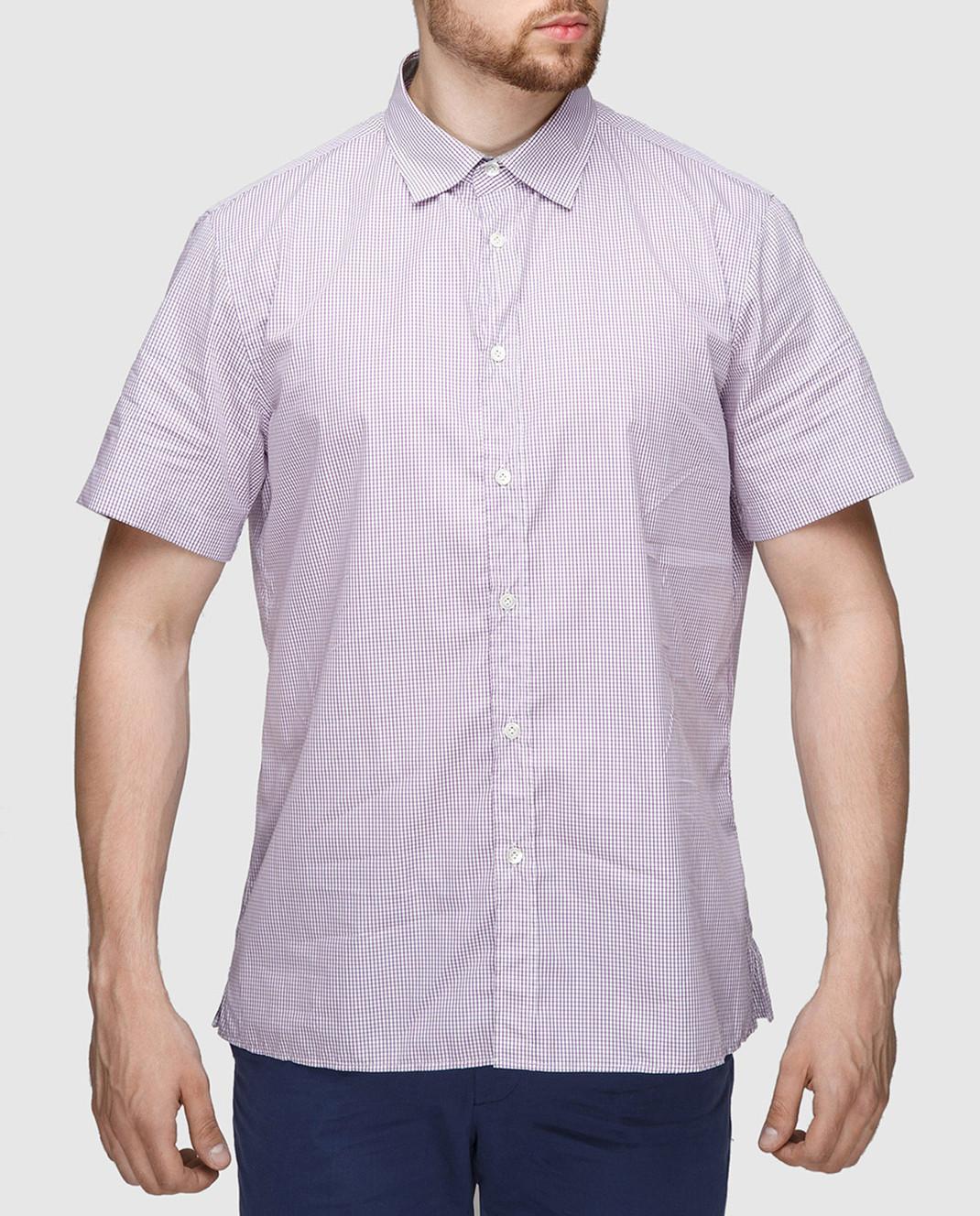 Luciano Barbera Сиреневая рубашка R10559071230 изображение 3