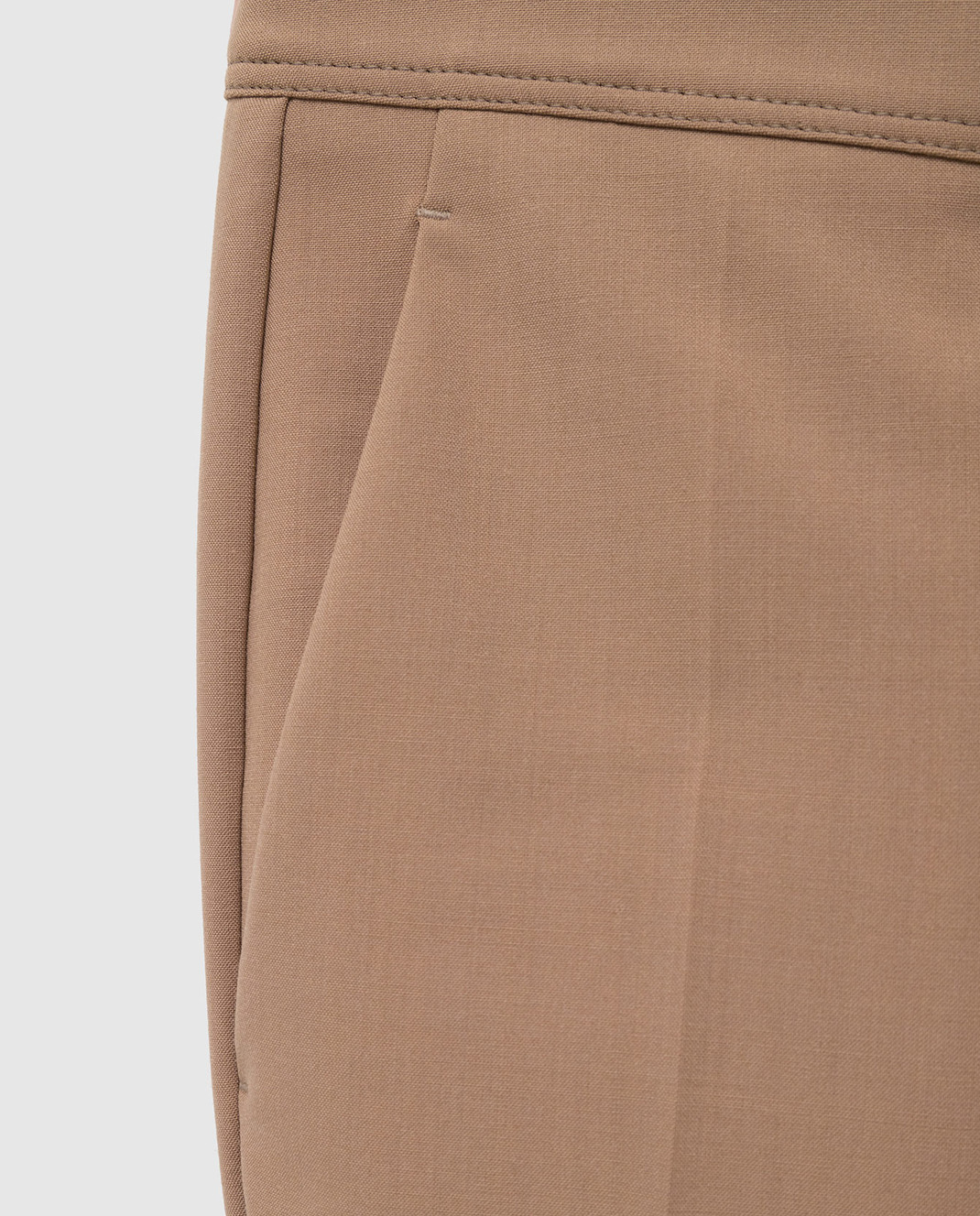 Brunello Cucinelli Бежевые брюки MA124P7227 изображение 5