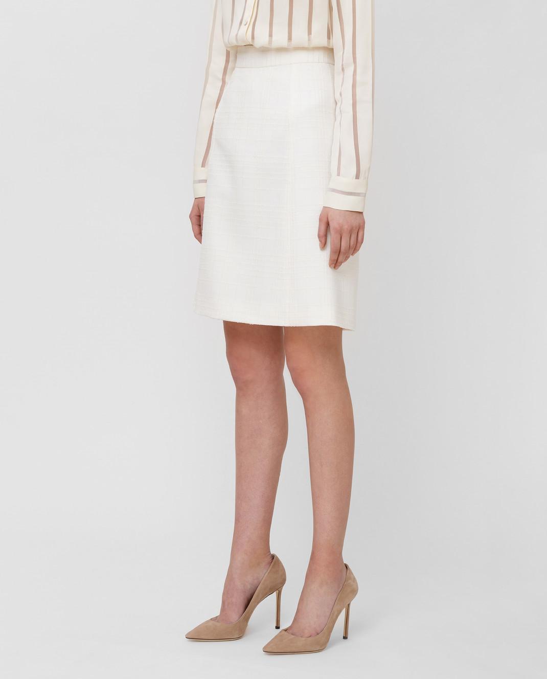 Bottega Veneta Белая юбка 544961 изображение 3