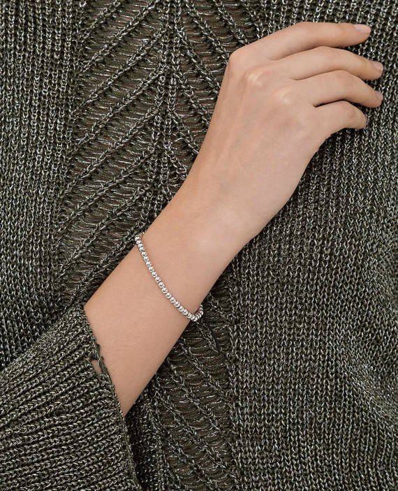 Серебристый браслет из латуни hover