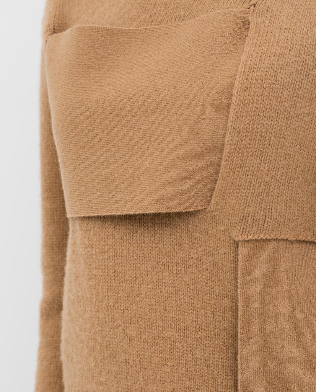 Bottega Veneta Бежевый свитер из шерсти изображение 5