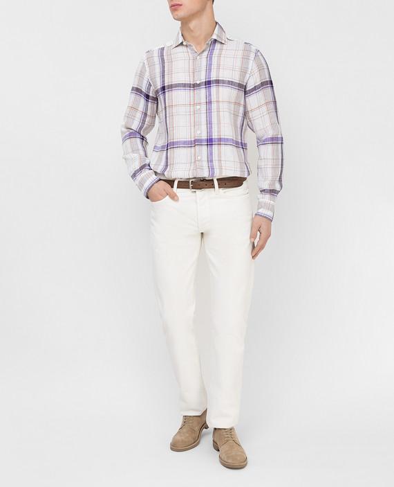 Белая рубашка из льна hover