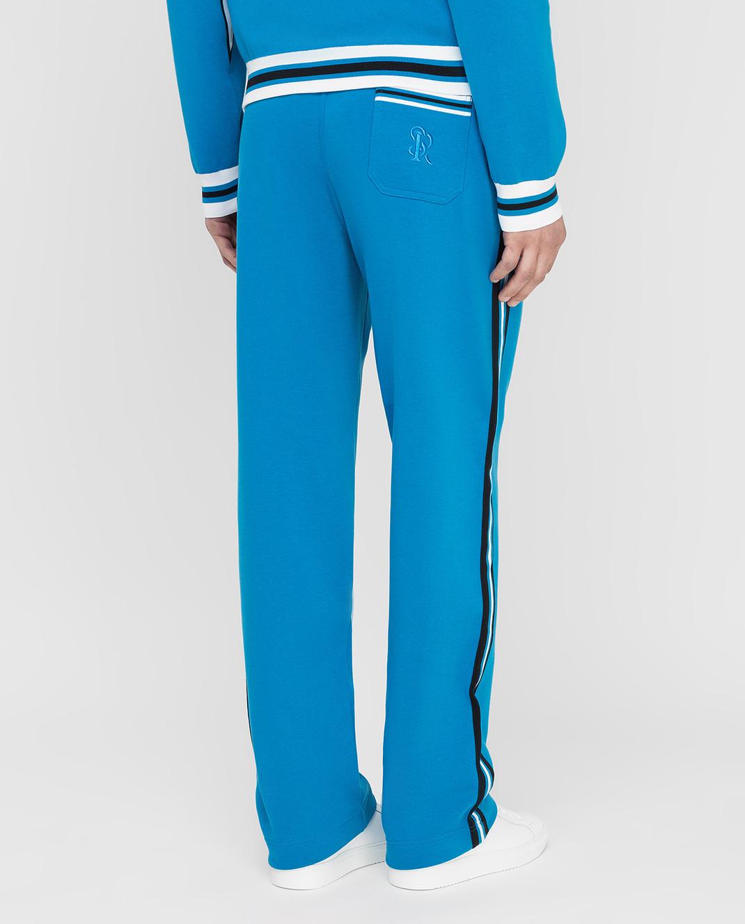 Stefano Ricci Синие спортивные брюки изображение 4