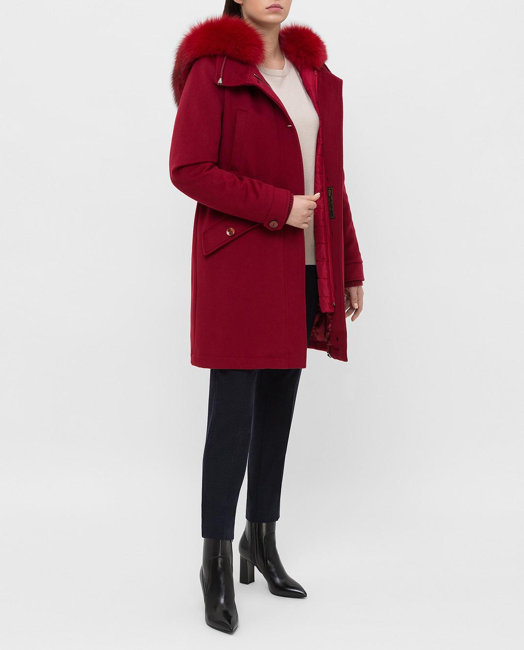 Heresis Красное пальто из шерсти P1290VO изображение 2