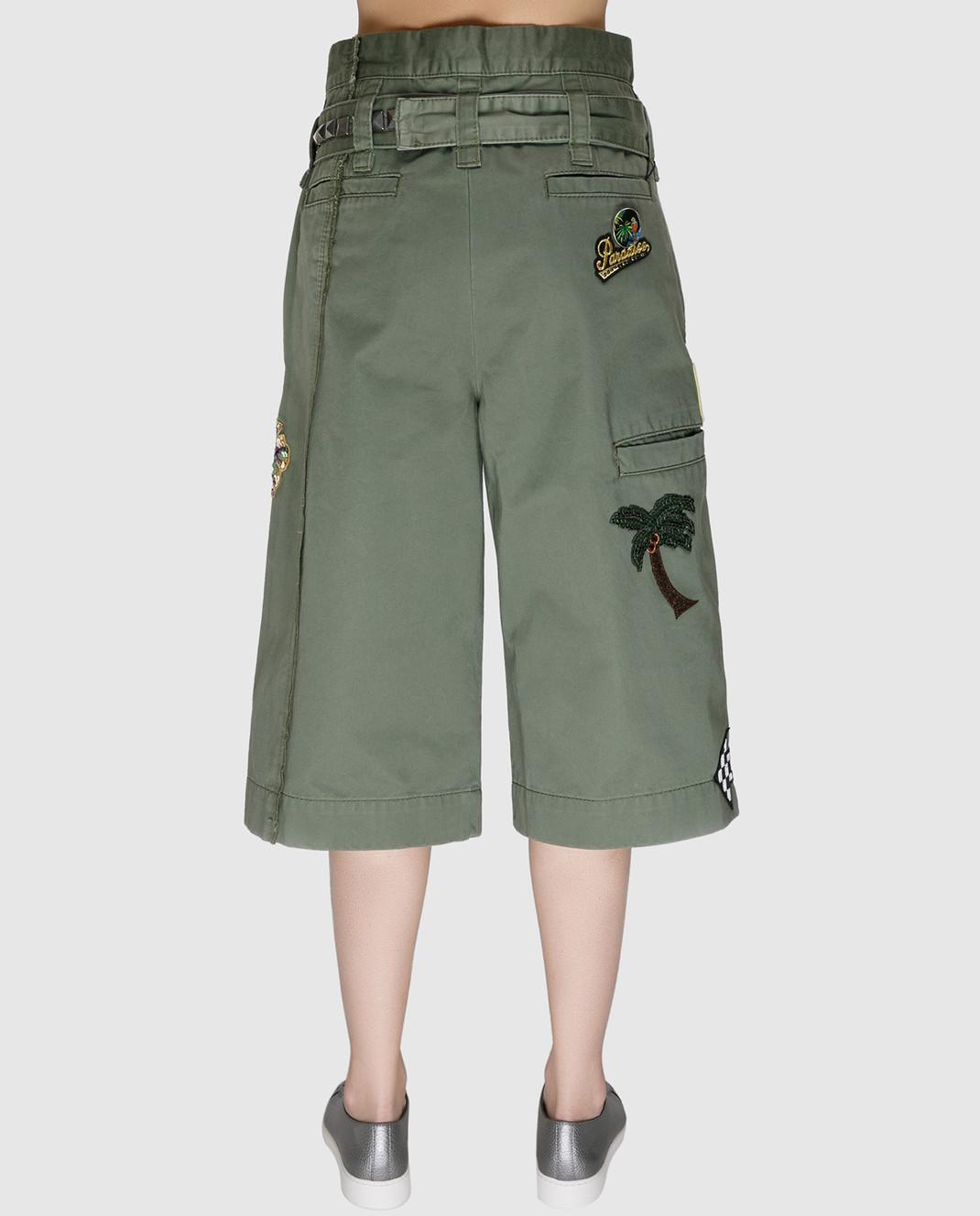 Marc Jacobs Зеленые шорты со съемным ремнем M4006493 изображение 4