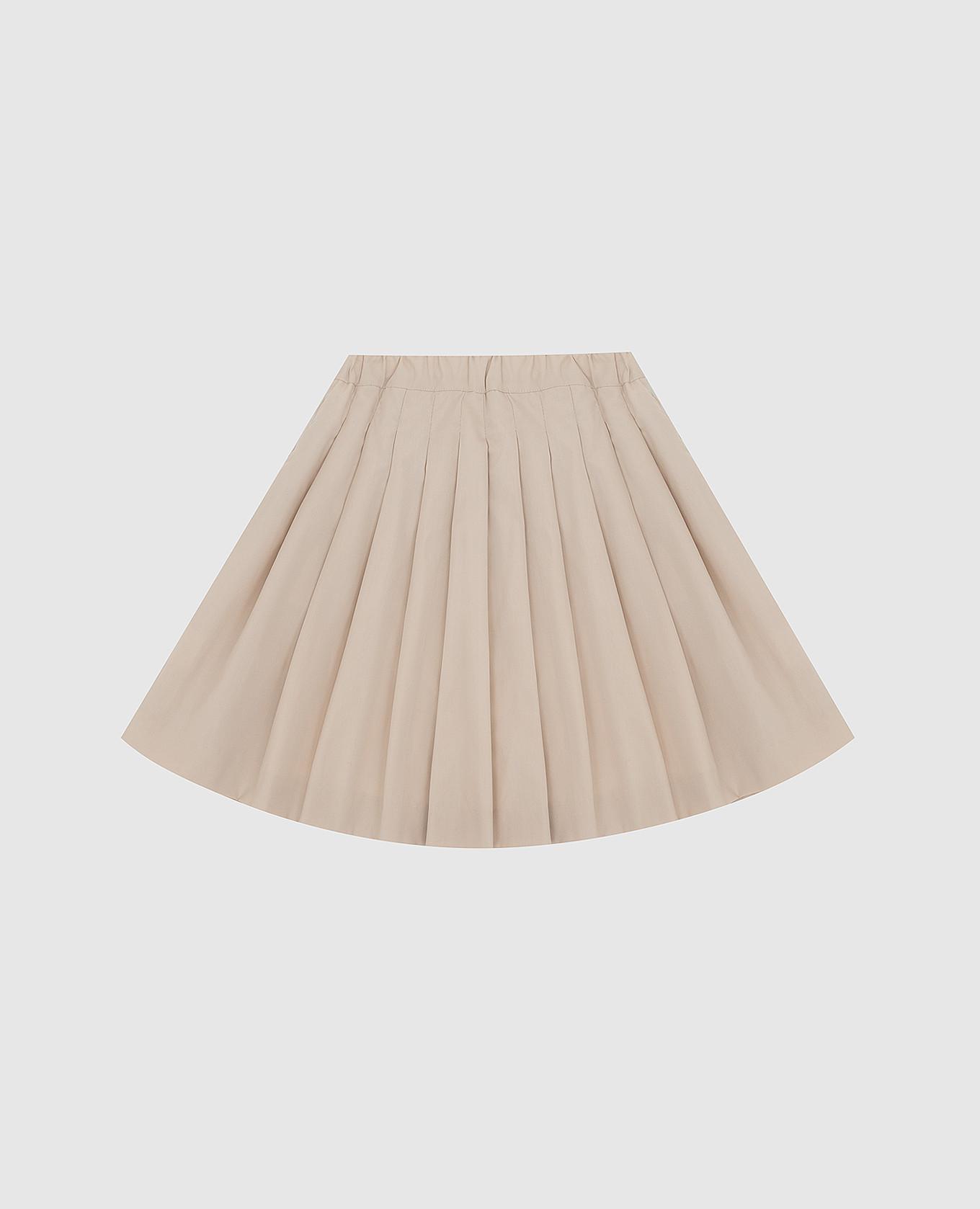 Детская светло-бежевая юбка