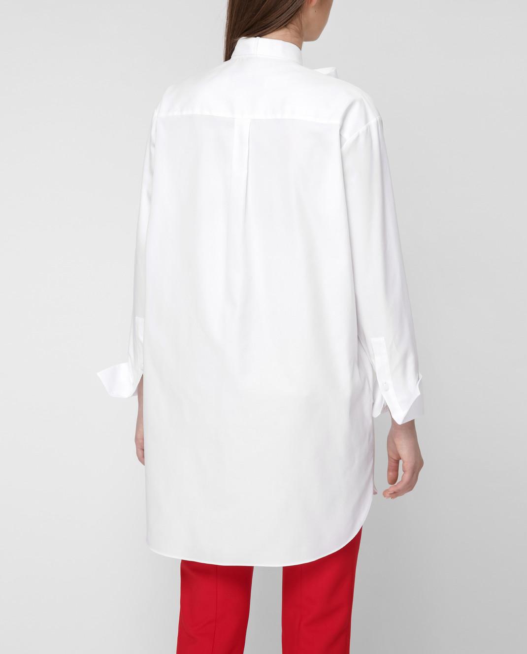 Valentino Белая рубашка RB3AB12U4F4 изображение 4