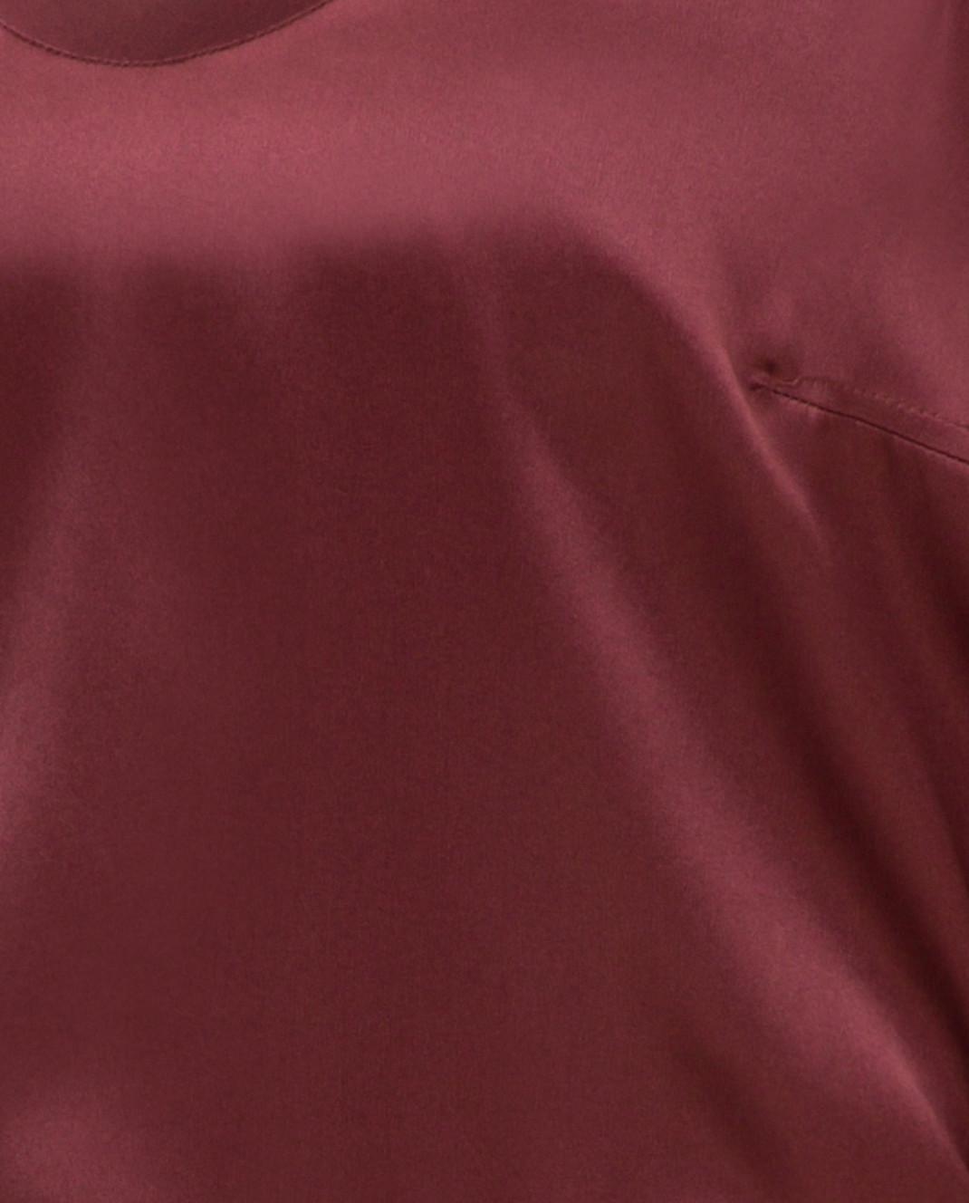 Brunello Cucinelli Бордовый топ из шелка M0C59E0600 изображение 5