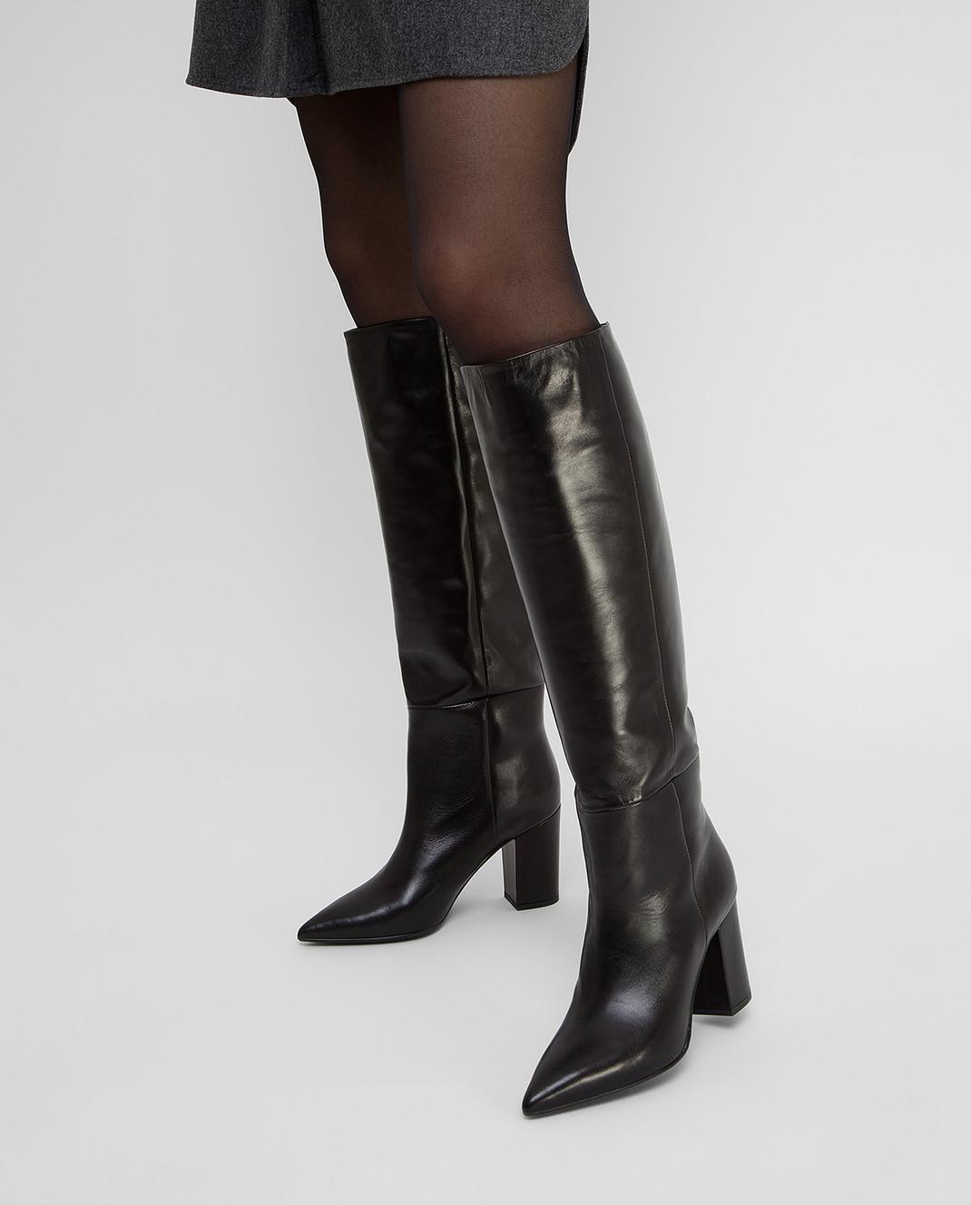 Babe Pay Pls Черные кожаные сапоги изображение 2