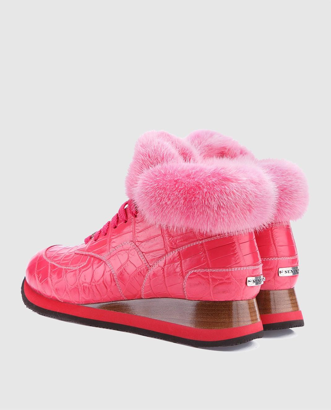 IGOR SENIN Розовые кроссовки ручной работы из кожи крокодила CROCO изображение 3