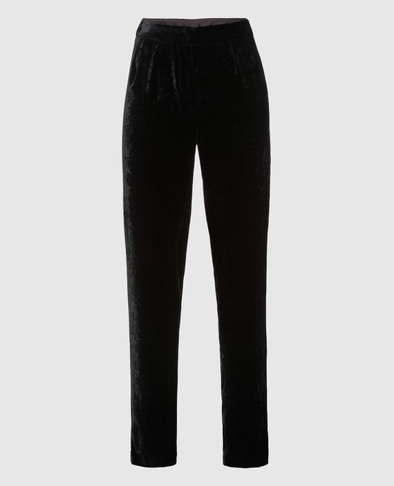 Черные бархатные брюки