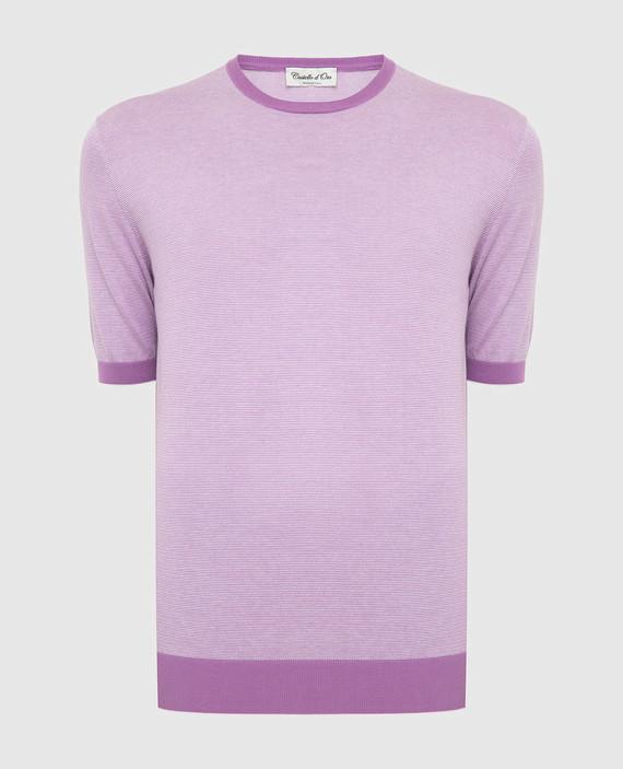 Сиреневая футболка