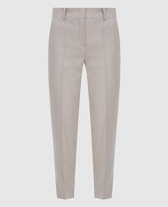 Серые брюки из кашемира