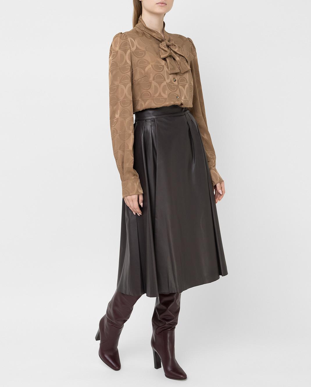 Dolce&Gabbana Коричневая юбка изображение 2
