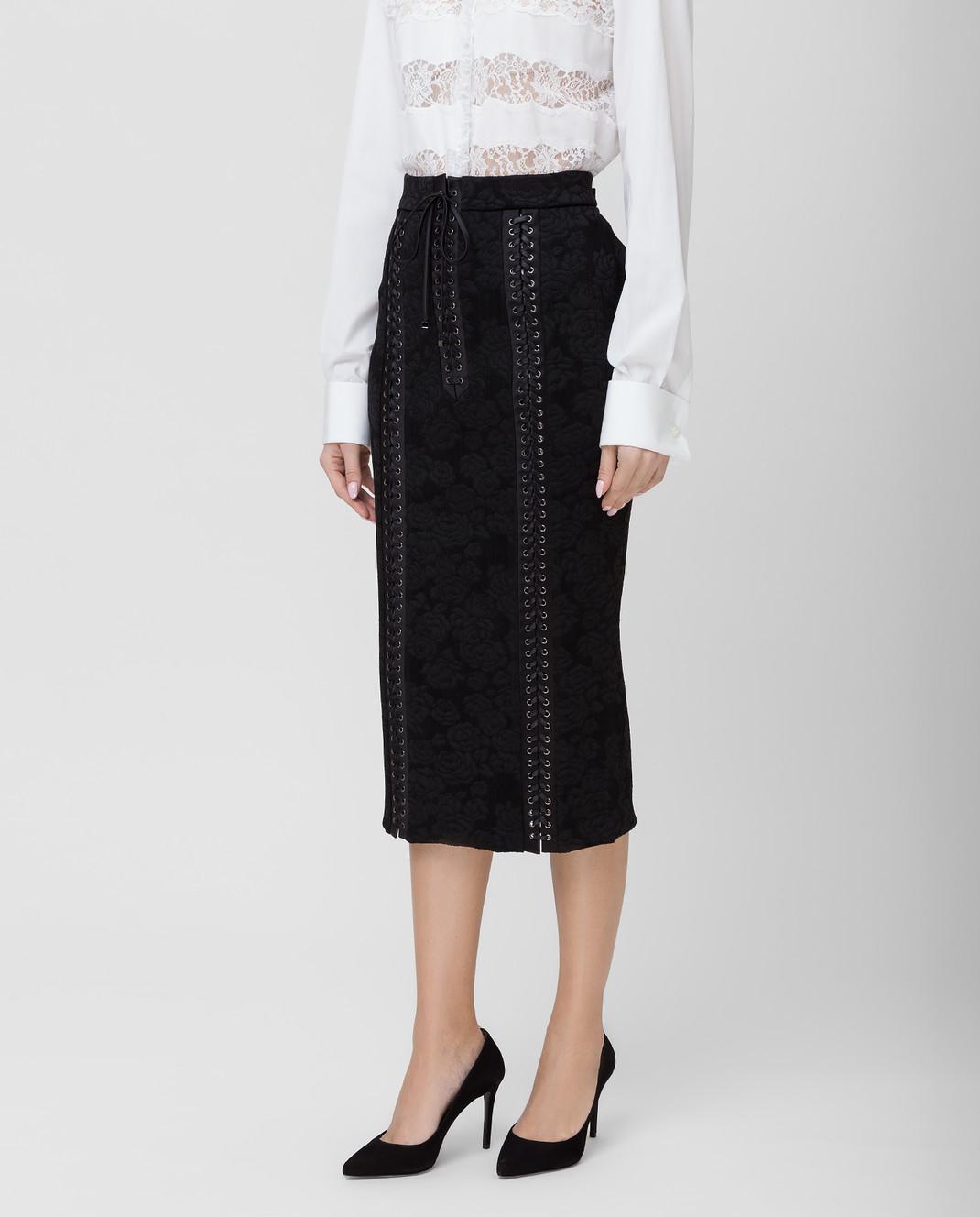 Dolce&Gabbana Черная юбка F4BIGTFJRCP изображение 3