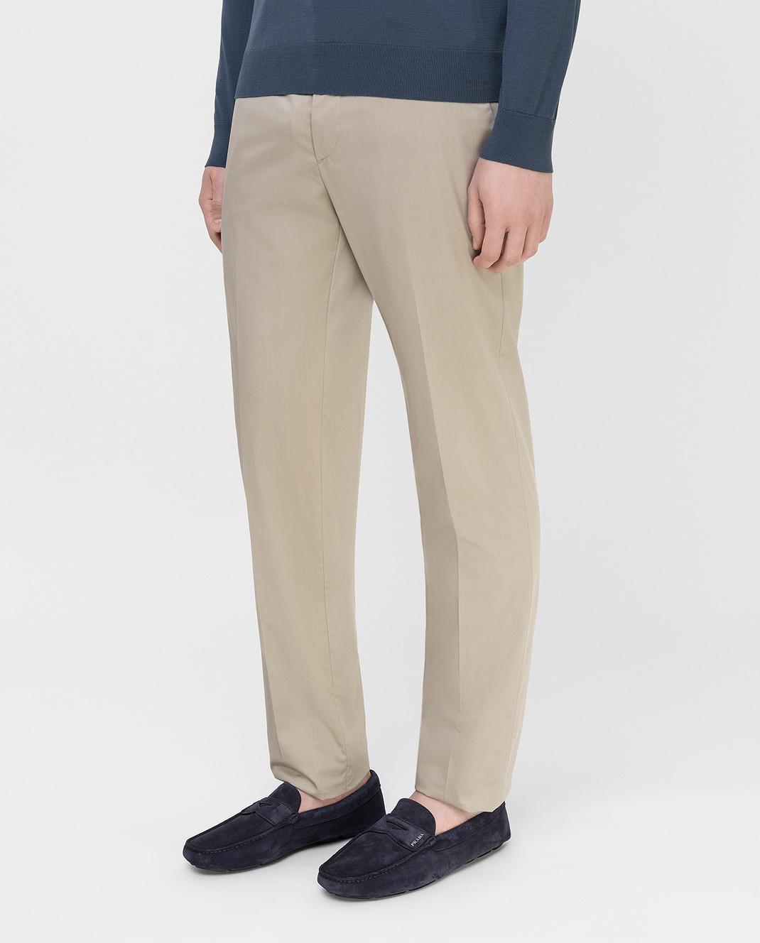 Prada Серые брюки UPA8411VSD изображение 3