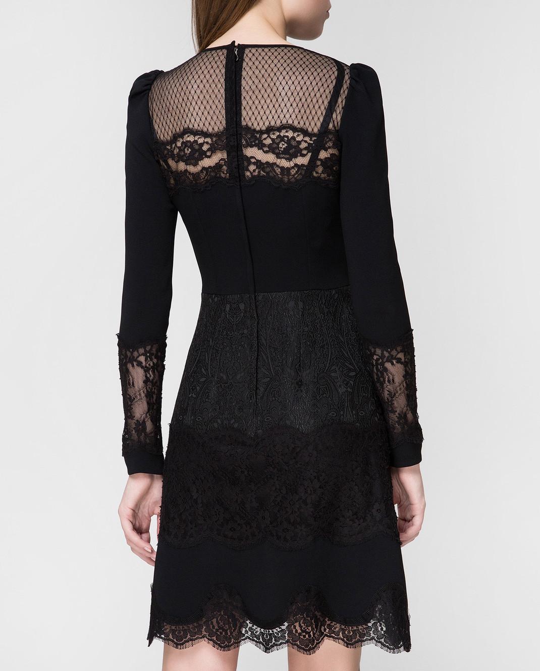 Dolce&Gabbana Черное платье F6C2STFURDV изображение 4