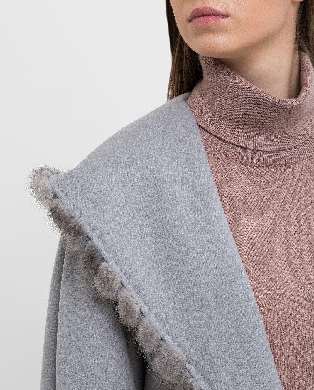 Heresis Серое пальто из шерсти M33130VIF260 изображение 5