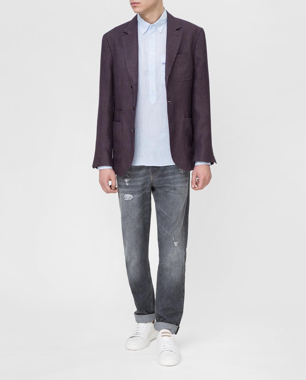 Brunello Cucinelli Сиреневый пиджак изображение 2