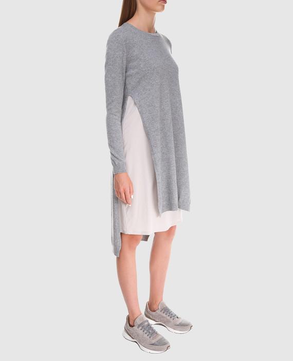 Серое платье из шерсти hover