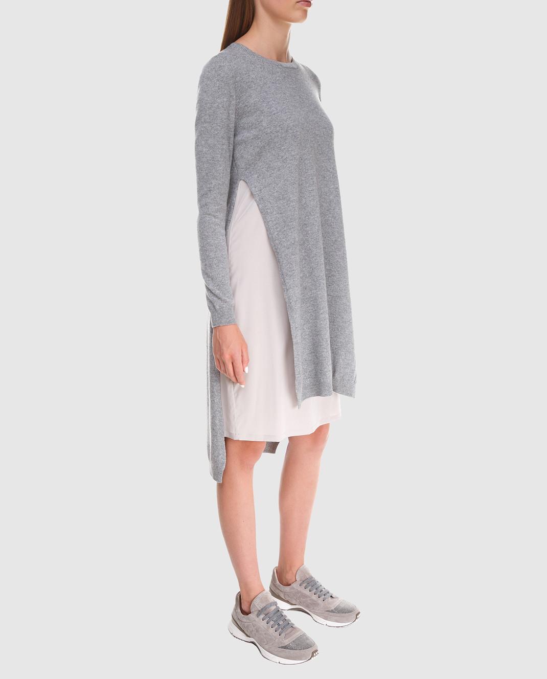 Peserico Серое платье из шерсти S82017F12U9018 изображение 2