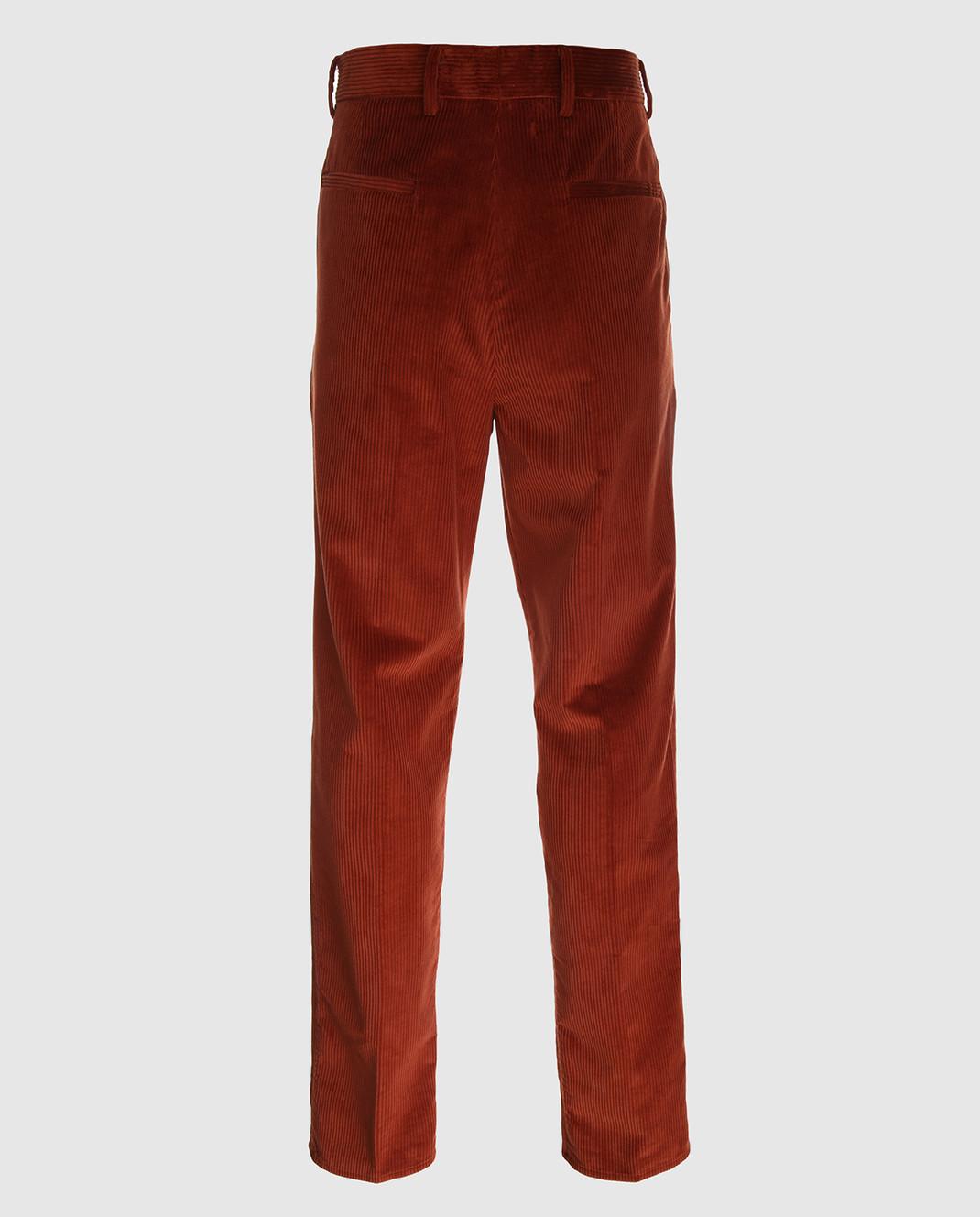 Brunello Cucinelli Терракотовые брюки ME233S2100 изображение 2